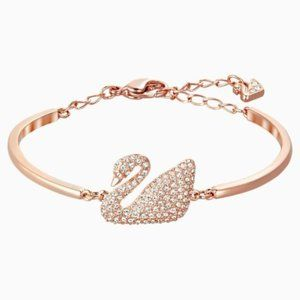 Swarovski Swan Bangle, Rose-gold Tone Plated